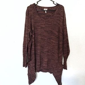 LOGO Lori Goldstein marled tunic size 2X